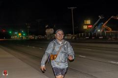 Guillermo walks at night